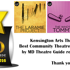 KAT Voted Best Community Theatre in the DC Metro Area by Readers for 2016!
